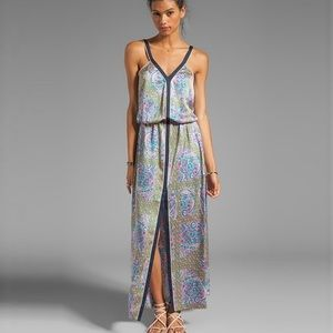 JUICY COUTURE Starflower Maxi Dress Front Slit, 6